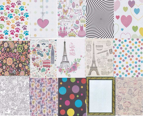 scrapbook papel bond decorado decoupage papiroflexia