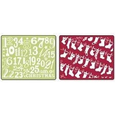 scrapbook sizzix embossing folders christmas stockings set