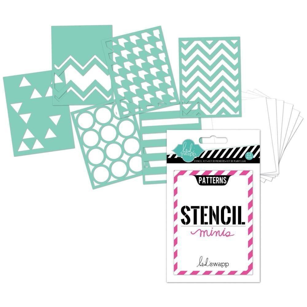 Scrapbook Stencil 6 Plantillas Mini Papel Tarjetas Cartulina ...
