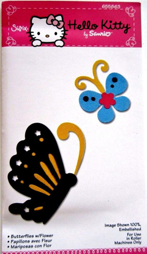scrapbook suaje de mariposas de kello kitty sizzlits