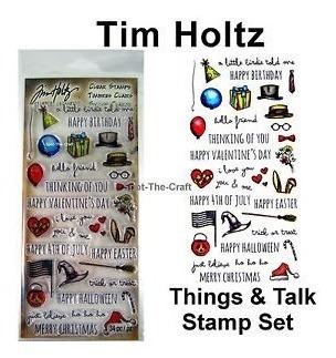scrapbooking set sellos sizzix tim holtz cosas things talk