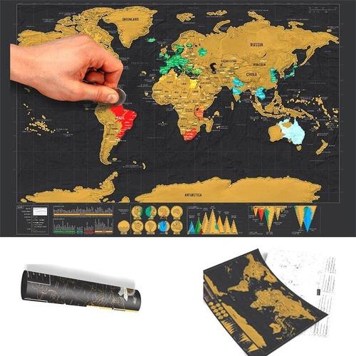 scratch map deluxe mapa de viajes raspadita mapamundi