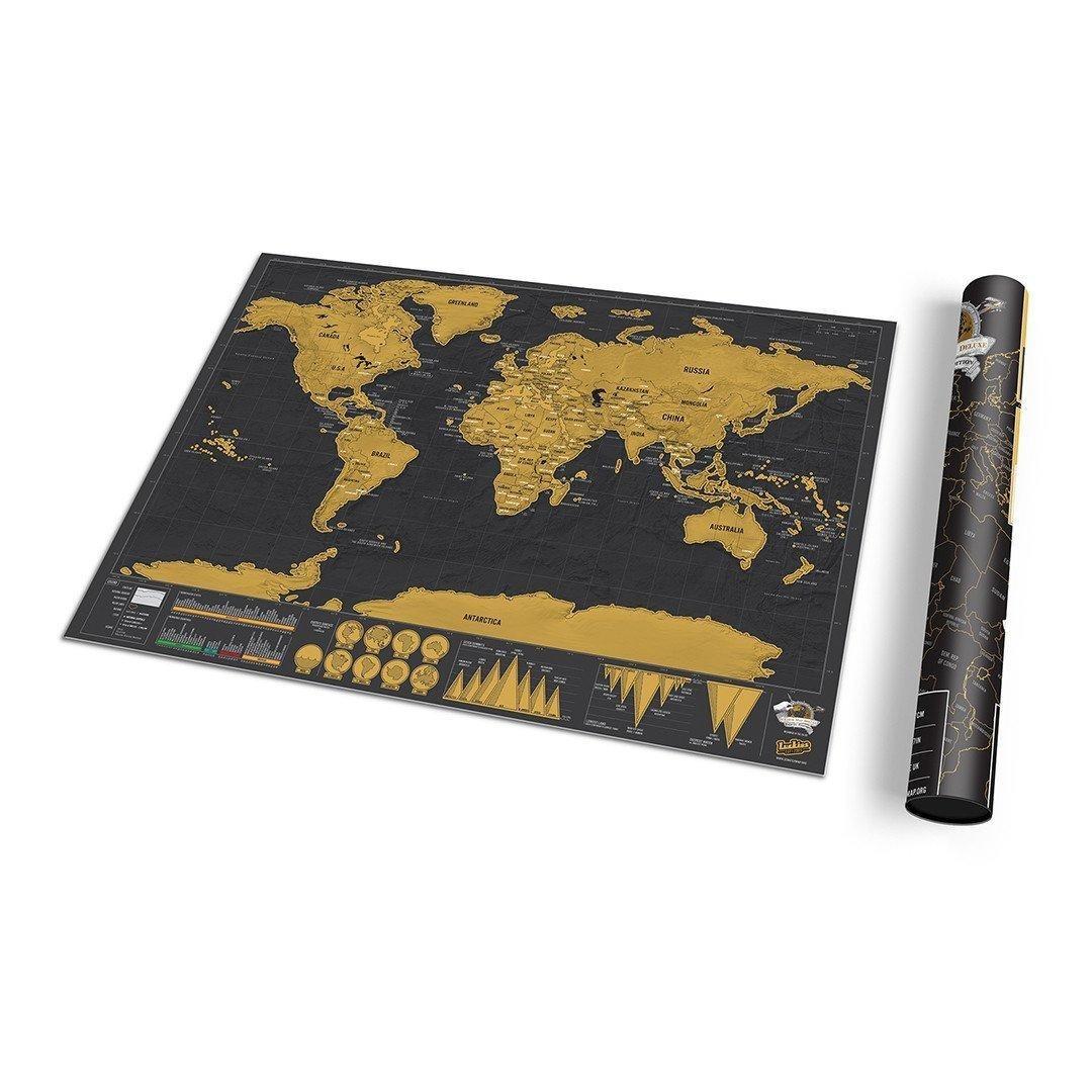 Scratch Map Negro Deluxe - Mini Enmarcado - $ 39.990 en Mercado Libre