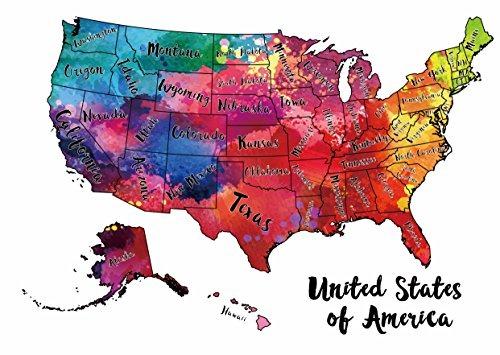 Scratch Off Map Usa - Raspe La Hoja De Plata De Los Estados ...