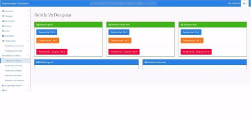 script gerenciador financeiro responsivo php + mysql web