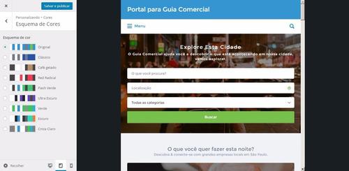 script guia comercial portal - tema wordpress premium 2017