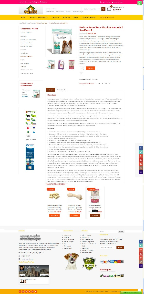 b55a66048 Script Loja Virtual Php Completa Responsiva Em Wordpress - R  387