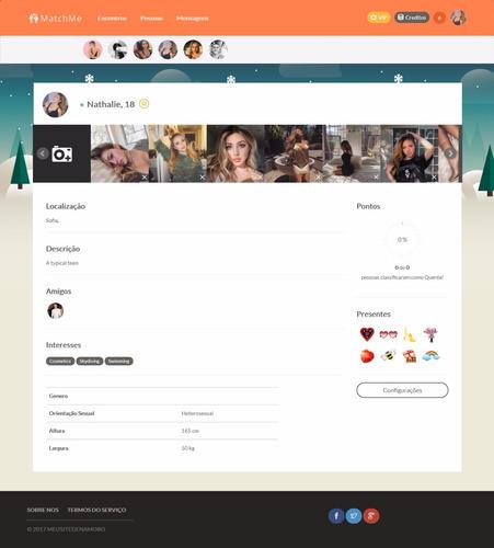 script php matchme v3.3 - site de namoro online responsivo