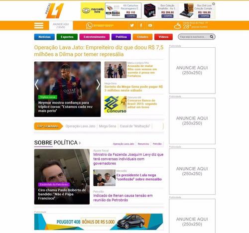 script php portal de notícias 2015 site de notícias - l1 v3