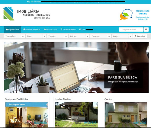 script php - site responsivo para imobiliaria com chat 2016