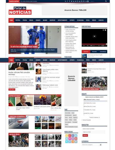 script portal noticias php - 100% administravel