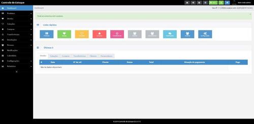 script sistema controle de estoque php7