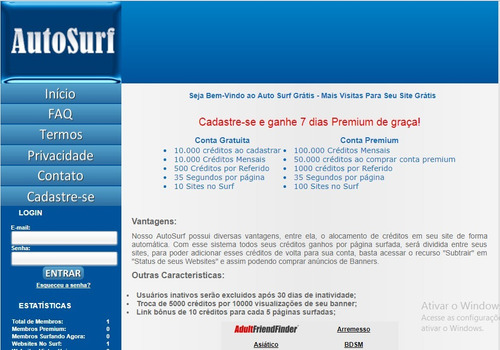 script site auto surf gerador de tráfego + tutorial instalaç