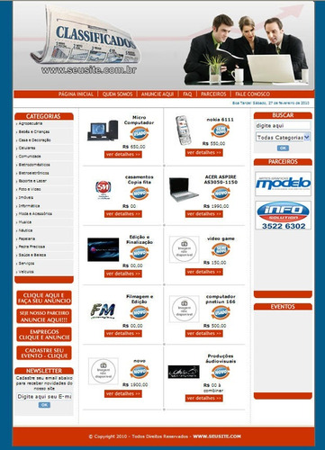 script site classificados / guia comercial php, + manual