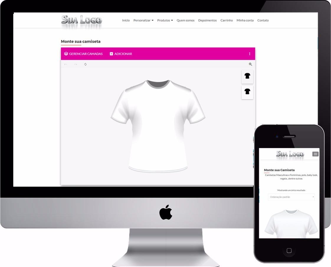 66c4e46ad Script + Site Completo Criar (personalizar) Camisetas Online - R ...