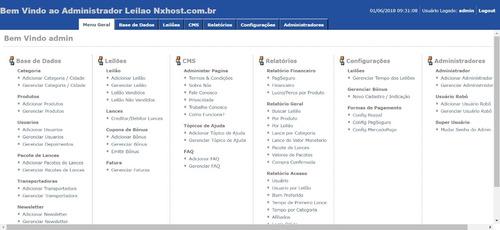 script site leilão de centavos novo 2018. com painel admin