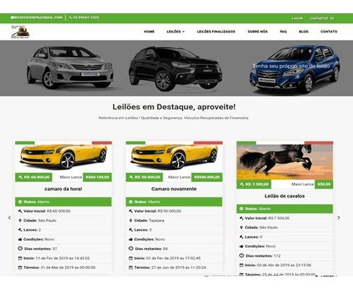 script site leilão de veículos - leilão online