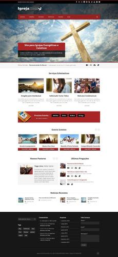 script site para igrejas - modelo 2017 gospel / evangélico