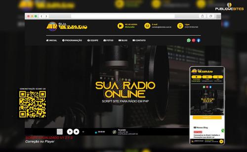 script site rádio online em php responsivo com painel admin.