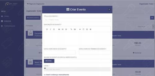 script site venda de ingressos online profissional