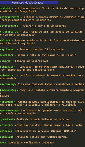 script ssh para gerenciar servidor vps.