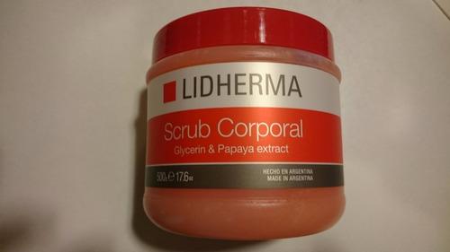 scrub corporal papaya 500gr lidherma