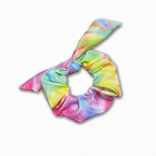 scrunchie tie dye kit com 2 - prender cabelo enfeite xuxinha