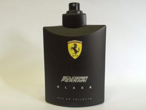 scuderia ferrari black 125ml masculino | tester original
