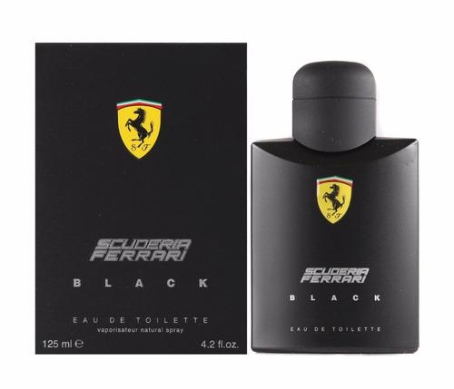scuderia ferrari black 125ml | original + 2 amostras brinde