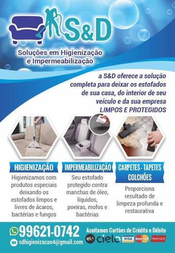s&d higienização de estofados