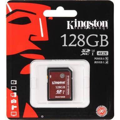 sd kingston de alto rendimiento de 128gb