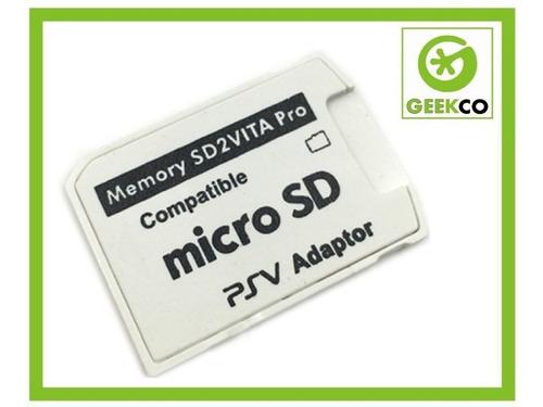 sd2vita v 5 adaptador micro sd ps vita henkaku -geekco-