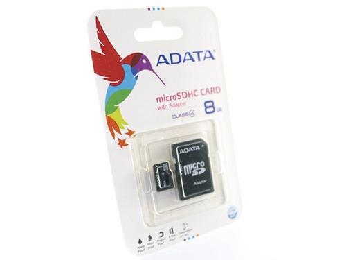 sdhc adata 8gb memoria micro