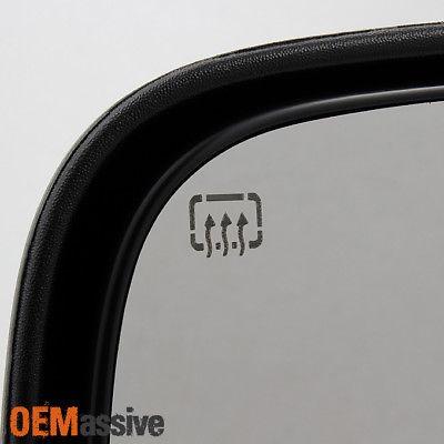 Fits 03-07 Silverado Sierra Power Extendable Smoke LED Signal Towing Side Mirror