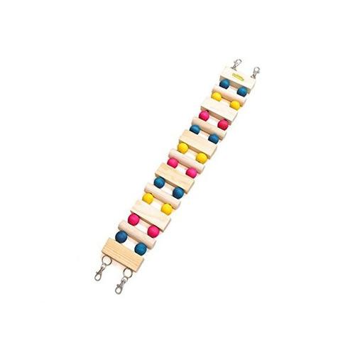 se admiten pequeño arco iris animal puente de madera balancí