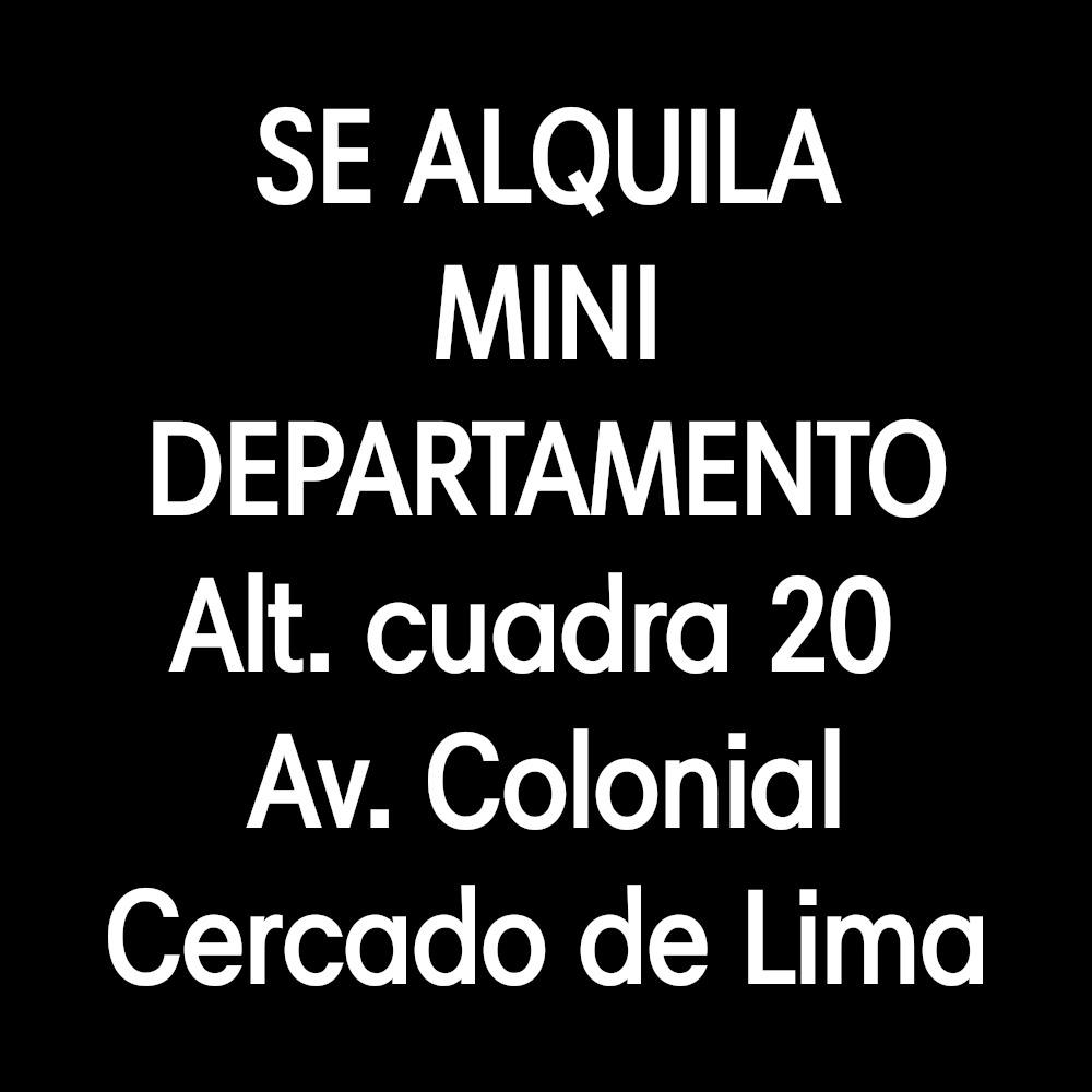se alquila departamento av colonial cuadra 20