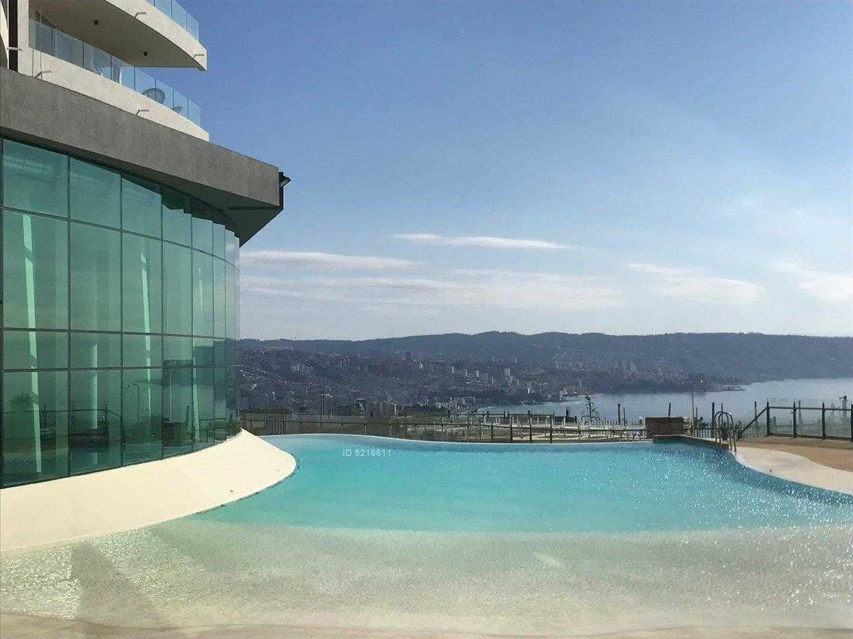 se arrienda acogedor depto. nuevo 2 d. 2 b. dos est. bod. terraza. piscina. vía halimeda, jardín del mar