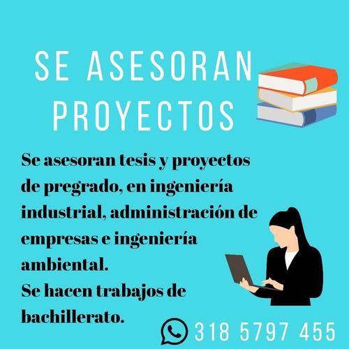 se asesoran proyectos y tesis.
