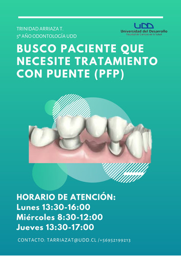 se busca paciente para atención odontológica integral
