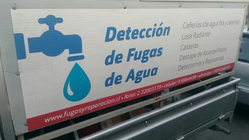 se detectan fugas de agua con máquina de ultrasonido y cámar