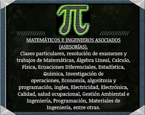 se dictan clases de matemáticas