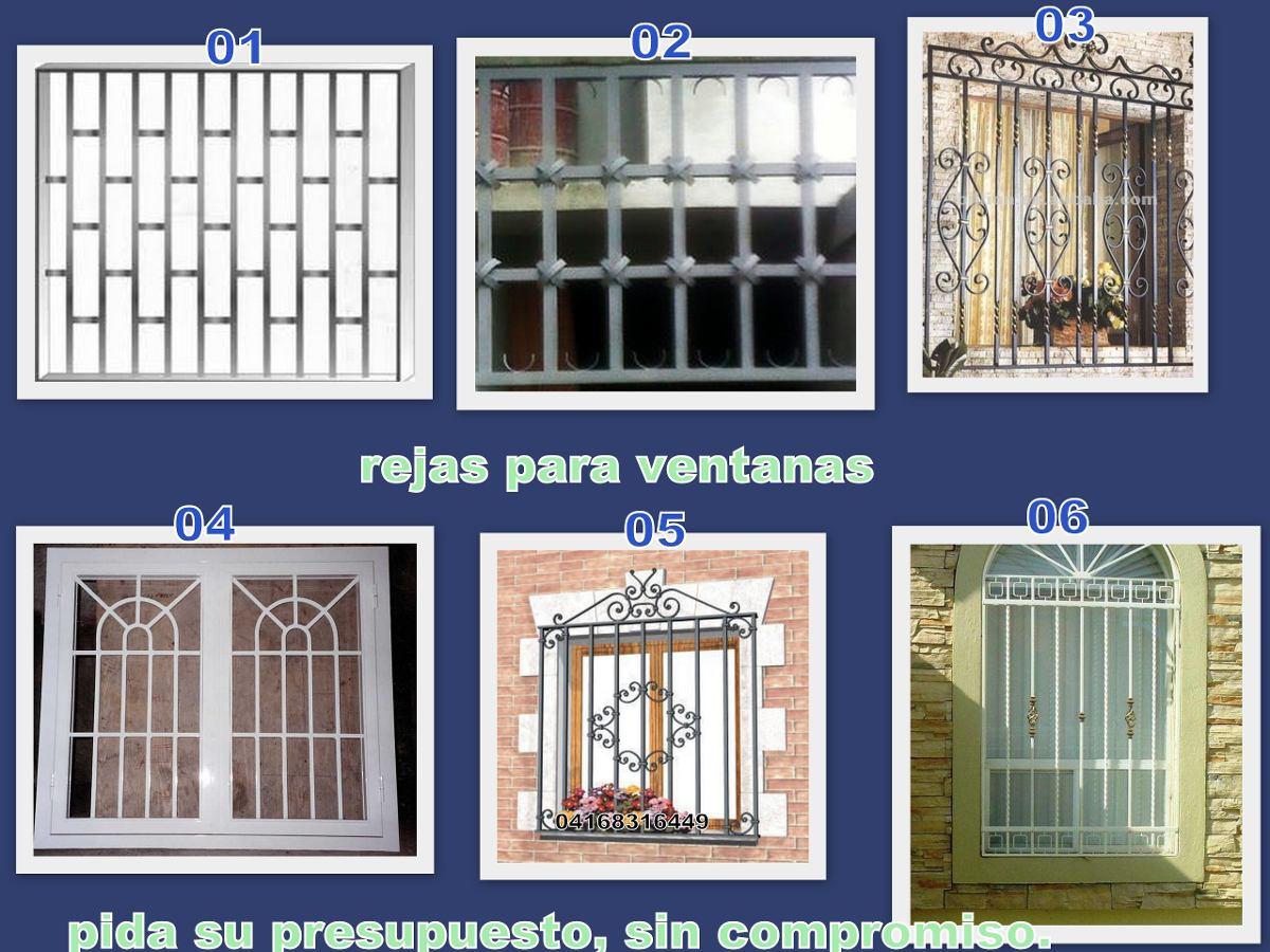 Se fabrican rejas para ventanas bs en for Modelos de rejas de fierro para puertas