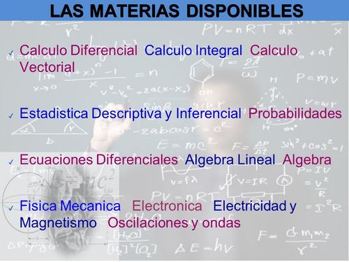 se hacen asesoría en trabajos de estadística física matemati