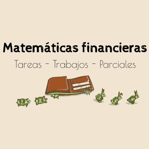 se hacen asesorías de trabajos de matemáticas financieras