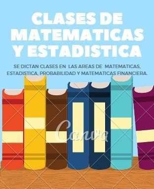 se hacen asesorias en estadística matematicas calculo