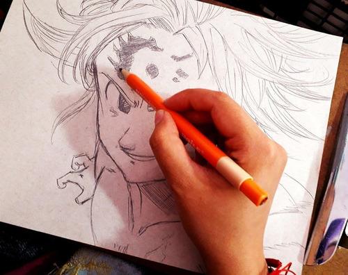 se hacen dibujos en diversas técnicas