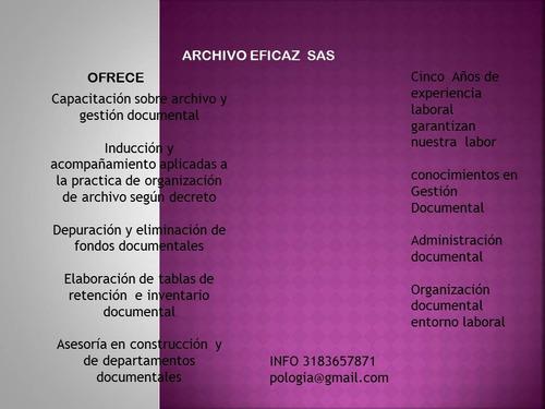 se hacen modficaciones archivisticas segun decreto