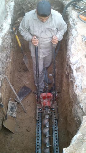 se hacen trabajos con maquinas tuneleras hidraulicas