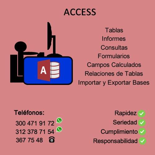 se hacen trabajos de excel word powerpoint access colombia