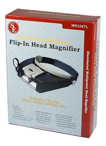 se mh1047l iluminado multi-power led magnifier cabeza